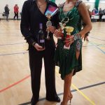 Senior Dance Couple at competition